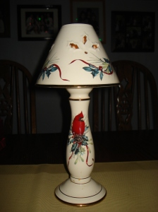 The Cardinal Candle Lamp - to honor my mom