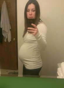 My youngest daughters 34 week Baby Bump Selfie