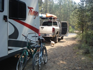 This was our campsite in Sunriver.