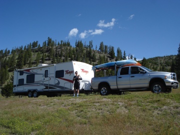Our first day in Yellowstone before we set up camp at Fishing Bridge.