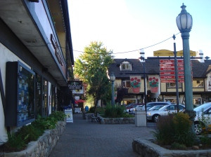 Tahoe City is charming with shops and street dining. It smelled really good but all we ate was heavenly ice cream.