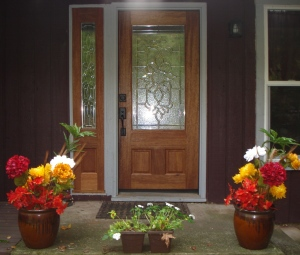 front door-flower pots